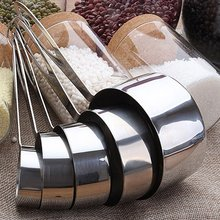 цена на 5 Sets of Baking Stainless Steel Spoon Measuring Spoon For Baking Tea Coffee Kichen Accessories Measuring Tool Set Dropshipping