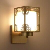 Işıklar ve Aydınlatma'ten Duvar Lambaları'de Modern duvar ışıkları Çin tarzı demir başucu yatak odası oturma odası lamba yaratıcı retro basit koridor otel lambaları LO71410