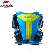 цены Naturehike Men Women 12L Lightweight Running Bag Nylon Shoulder Bags Cycling Hiking Camping Marathon Travel Backpack 3 Colors