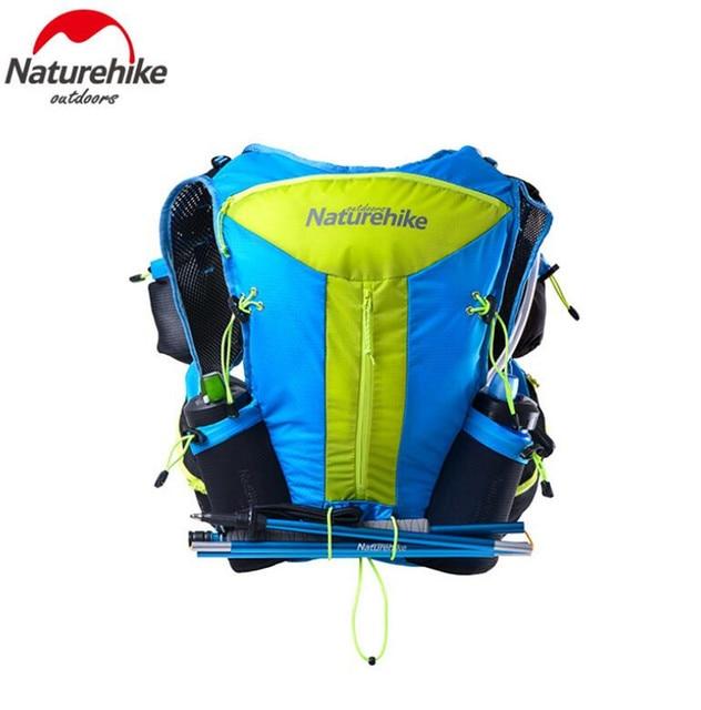 Naturehike Men Women 12L Lightweight Running Bag Nylon Shoulder Bags Cycling Hiking Camping Marathon Travel Backpack 3 Colors