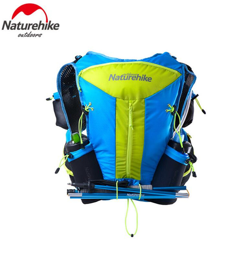 Naturehike Men Women 12L Lightweight Running Bag Nylon Shoulder Bags Cycling Hiking Camping Marathon Travel Backpack 3 Colors