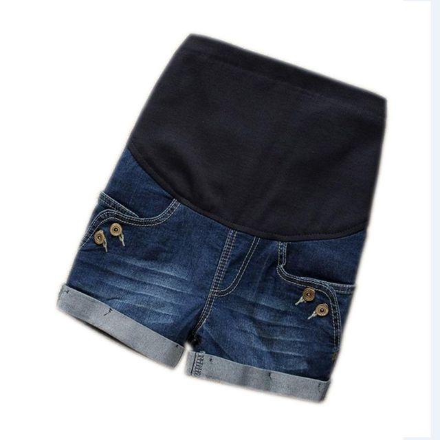2f786dfaa1e Maternity Clothes Fashion Summer Denim Maternity Elastic Waist Pregnant  Shorts Jeans for Pregnancy Fashion Belly Shorts