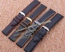 Tejido de fibra de carbono Accesorios de Alta calidad correa de cuero correas de Reloj para relojes deportivos carreras de luz reloj de pulsera Caliente