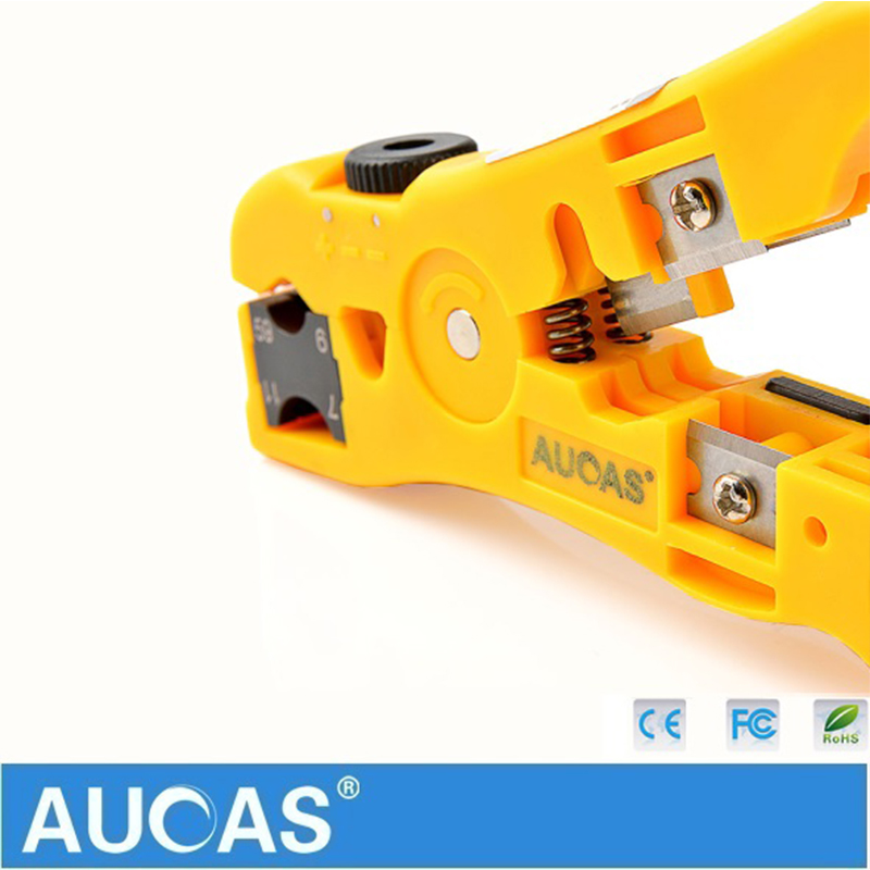 Image 3 - Universal Network Cable Wire Cutter Stripper Coaxial Cable RG59/6/7/11 Cat5e Cat6 Round & Flat Cable Cutting Stripping Tool-in Networking Tools from Computer & Office