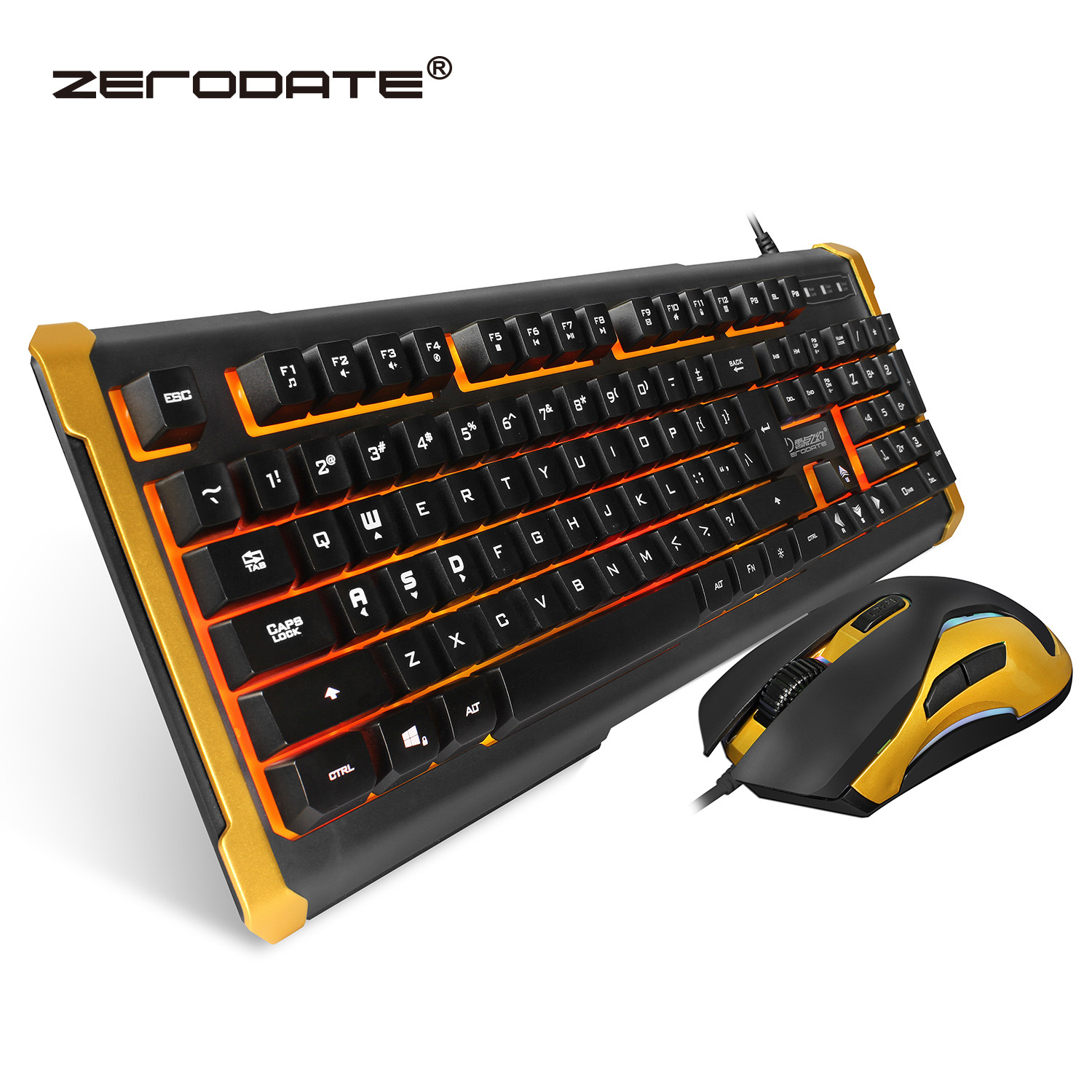 New K12 Wired Usb Suspension Mechanical Feel Keyboard Mouse Set ...