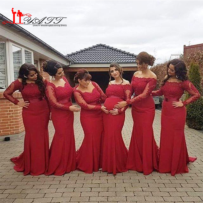 Plus Size Red Bridesmaid Dresses Fashion