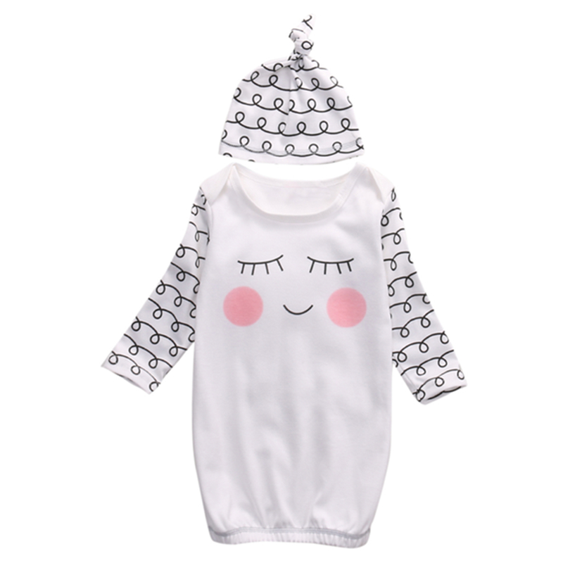 Baby Jongen Meisje Kleding Pasgeboren Baby Romper Body Meisje Slaperige Ogen + Rosy Wangen Nachtkleding Zuigeling Bebes Pyjama Baby Winter Algehele Verfrissend En Weldadig Voor De Ogen