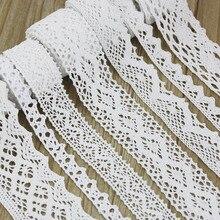 5 м/рулон) белый хлопок вышитые кружева ленты-сетки ткань отделка DIY украшения Швейные материалы ручной работы для поделок