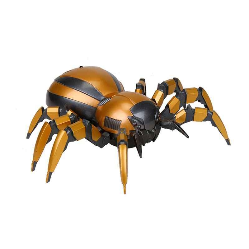 FK502A Lifelike 4CH Remote Control Mechanical Spider Cool LED Lights on Eyes Sounds Toy for Kids