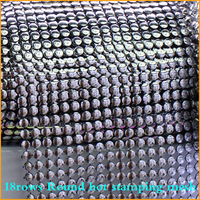 Free Shipping 5yard Lot 18rows Silver Round Plastic Rhinestones Mesh Trimming Sewing Trim Wedding Dress DIY