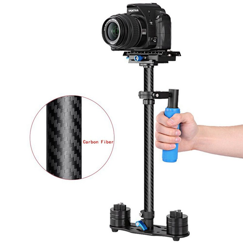 DSLR Camera Handheld Stabilizer Carbon Fiber Steadicam 38.5-61cm Height Adjustable Camcorder Video Stabilizer ashanks mini carbon fiber handheld