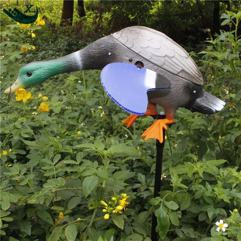 ФОТО Xilei Remote Control Dc 6V Ducks Decoy Plastic Greenhead  Hunting Ducks With Spinning Magnet Wings