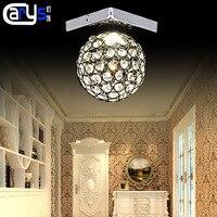 Светодио дный лампа крыльцо вестибулярный коридорный светильник балкон бра K9 хрустальные шары поглощают свет купола производителя оптом