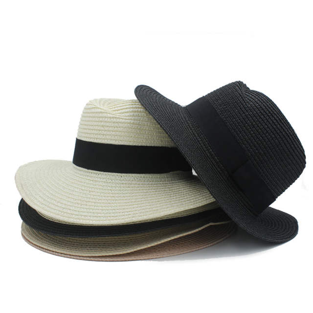 0bec4d50eee Fashion Summer Women Men Toquilla Straw Sun Hat Elegant Big Wide Brim Panama  Hat Queen Fedora