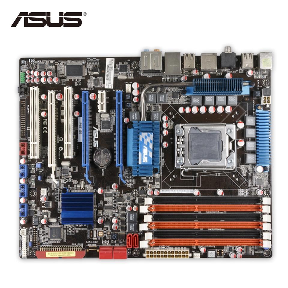 Asus P6T SE Original Used Desktop Motherboard X58 Socket LGA 1366 i7 DDR3 SATA2 USB2.0 24G ATX motherboard lga 1366 cpu bga soldering socket with tin balls