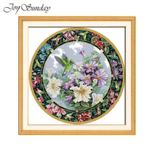 Wreath Counted Cross Stitch Kit Still Life Paintings 14CT 11CT DMC DIY Handwork Printed Canvas Aida Fabric Embroidery Needlework