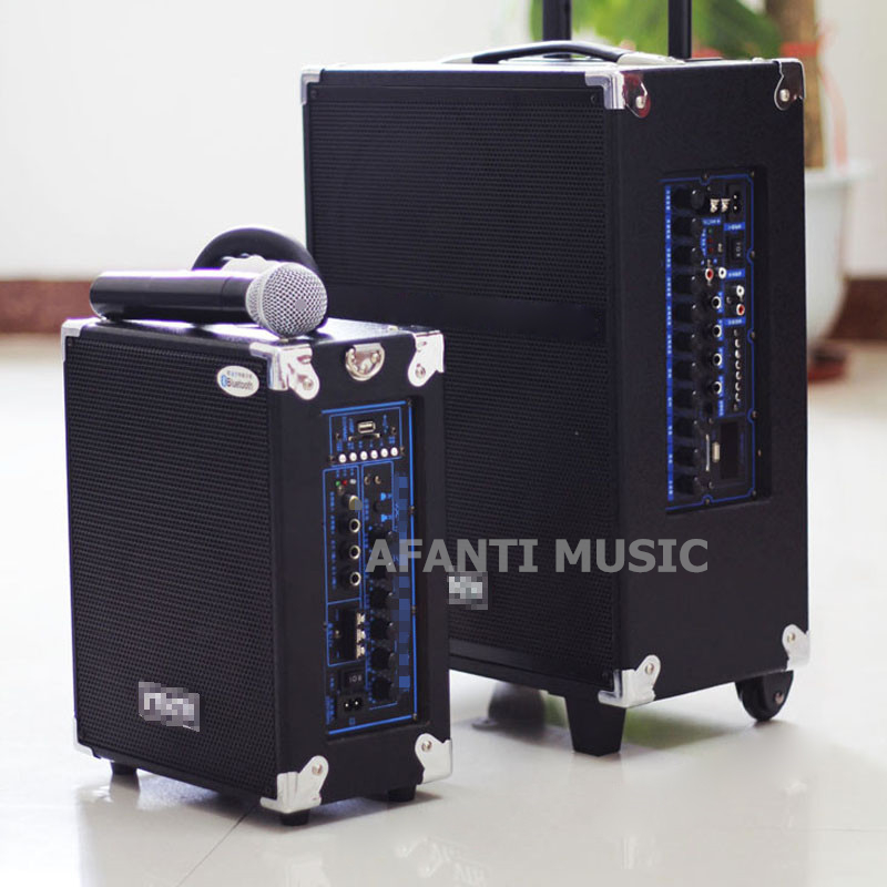Afanti Music Acoustic Guitar / Portable / Show Amplifier (AMP-101) afanti music gib es335 style 4 strings bass guitar es335 b27