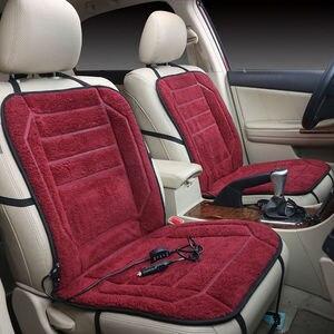 Image 2 - カー温水シートクッション 12 12v ヒーターカバー電気加熱された席車暖かいシートクッション