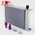25 ряд AN8 Универсальный алюминиевый двигатель коробка передач 248 мм масляный радиатор британский тип w/комплект фитингов серебро