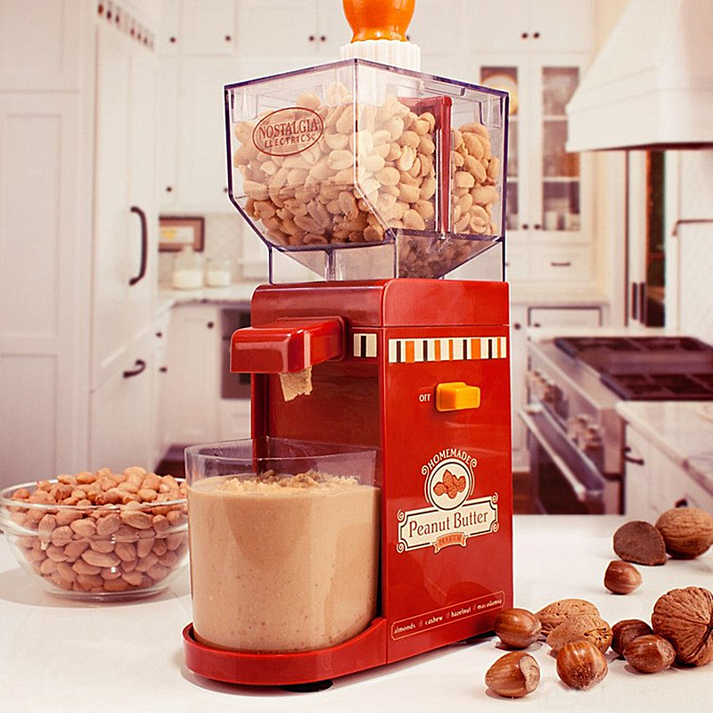 Household Small Peanut Butter Maker 220V Peanut Butter Machine Make Peanut Butter Milling Machine Grinding Small Grinder peanut butter machine nuts butters maker