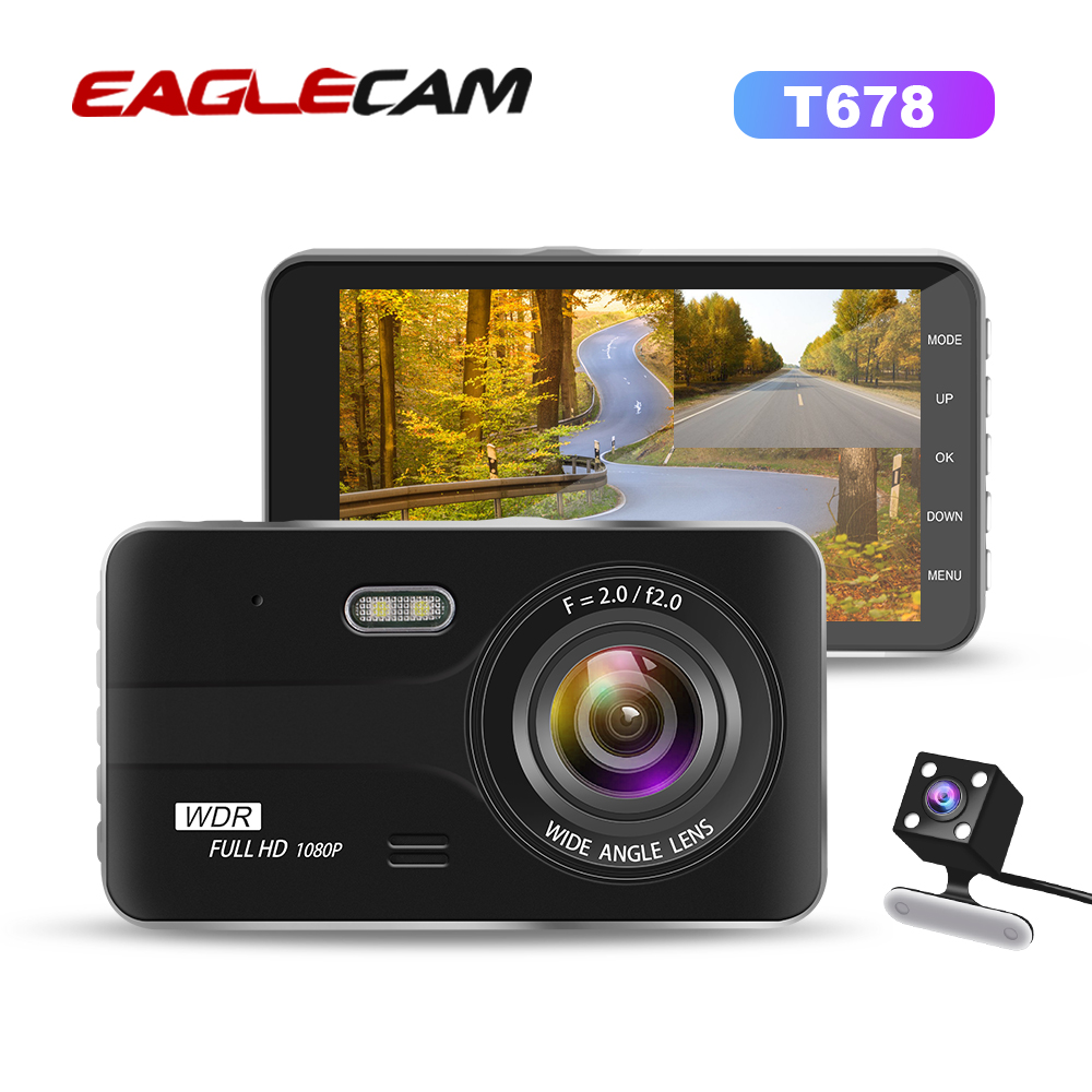Dash Cam Dual Camera Lens Full HD 1080P Car DVR Vehicle Rearview Camera Night Vision Video Recorder G sensor Parking Monitor-in DVR/Dash Camera from Automobiles & Motorcycles