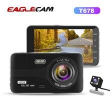 דאש מצלמת Dual מצלמה עדשת Full HD 1080 P רכב DVR רכב Rearview מצלמה ראיית לילה וידאו מקליט G חיישן חניה צג