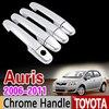 For Toyota Auris E150 2006 2011 Chrome Handle Cover Trim Corolla Hatch 2007 2008 2009 2010