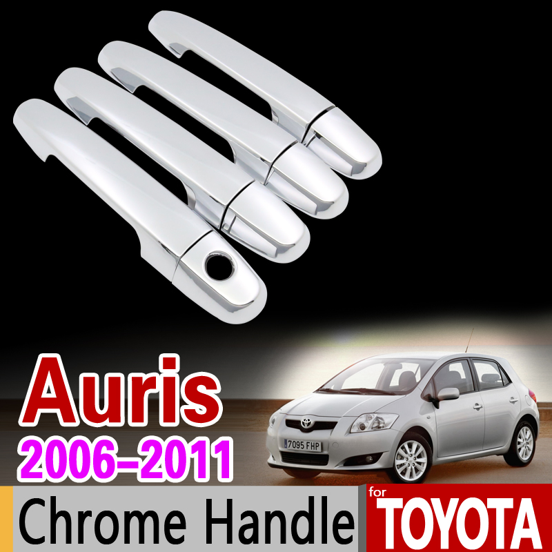 for Toyota Auris E150 2006 - 2011 Chrome Handle Cover Trim Corolla Hatch 2007 2008 2009 2010 Car Accessories Sticker Car Styling beautiful and pract fabric rear trunk security shield cargo cover black for toyota rav4 rav 4 2006 2007 2008 2009 2010 2011 20