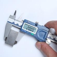Качественный Промышленный Цифровой точный Нержавеющая сталь штангенциркуль с нониусом из пластмассы ABS относительного измерения 0-150/200/300 мм 6/8/12 дюймов