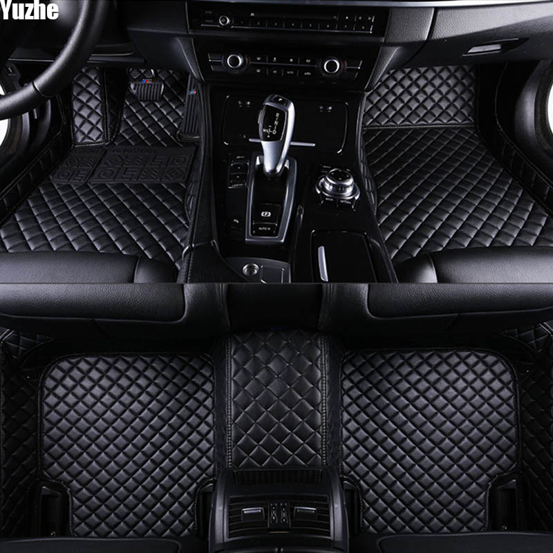 yuzhe auto car floor foot mat for audi a3 sportback audi a5 sportback a4 b8 avant tt car accessories waterproof carpet