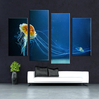 4PCS Ocean Arts Living Rooms Set Wall Painting Print On Canvas For Home Decor Ideas Paints