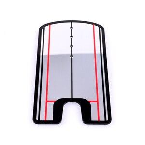 Image 4 - 2019 nouvelles aides à lentraînement de golf balançoire de Golf pratique droite Golf mise miroir alignement balançoire formateur ligne oculaire accessoires de Golf
