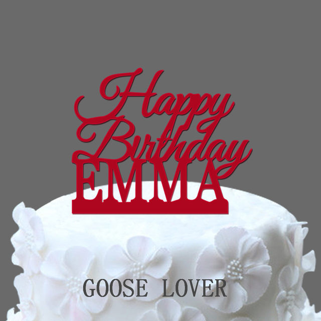 online shop custom name happy birthday cake topper personalized