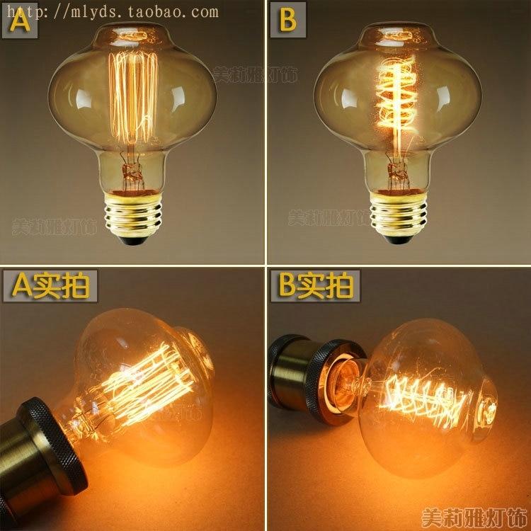 2pcs/lot D80 40W E27 220V Lampada Edison Bulb Retro Lamps Light Bombillas Vintage Lamp Ampoules Decoratives Incandescent Bulb