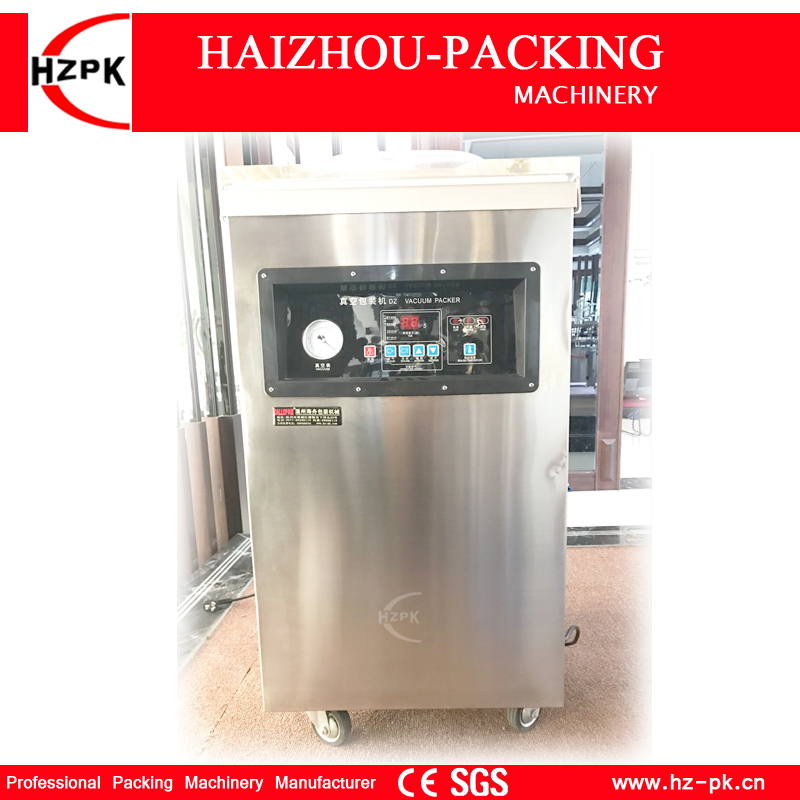 HZPK Automatic Stainless Steel Single Chamber Vacuum Packer With Organic Glass Vacuum Sealer For Large Capacity Type DZ-400