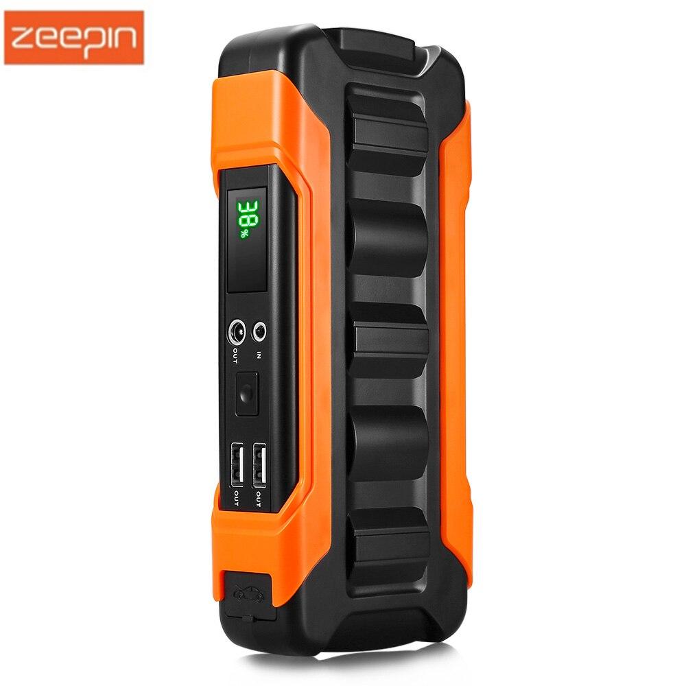 ZEEPIN U12 Auto Starthilfe 18000 mah Notfall Tragbare Power Bank 12 v Auto Ladegerät LCD Bildschirm Für Auto Batterie ladegerät