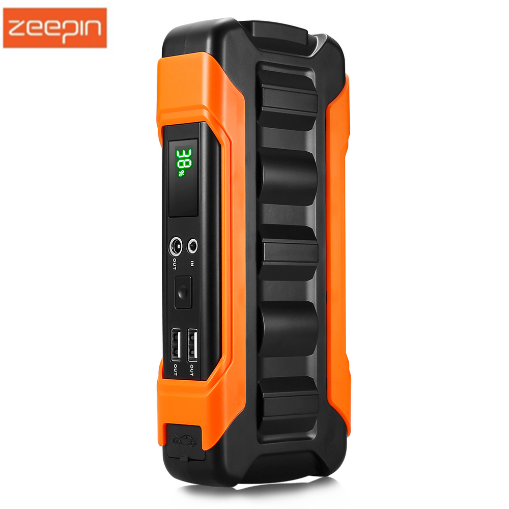 ZEEPIN U12 Car Jump Starter 18000mAh Emergency Portable Power Bank 12V Car Charger LCD Screen For Car Battery Charger