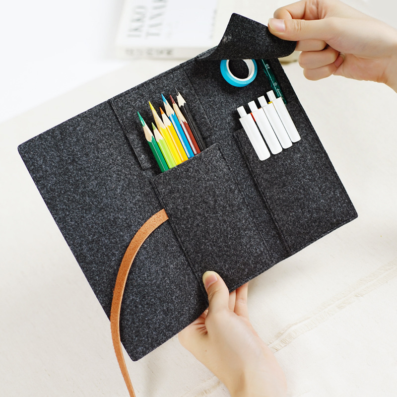 Minimalist Felt Pencil Bag Pure Color Fabric Pencil Cases School Supplies Student Office Stationery Pencil Pouch цена