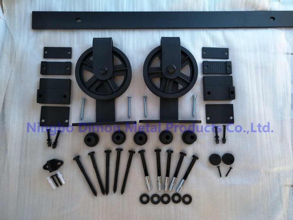 Бесплатная доставка Dimon большое колесо деревянная раздвижная дверь оборудование DM-SDU 7209 с мягким закрытием (без рельса)