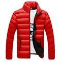 Novos homens casacos de inverno down jacket com capuz casaco de inverno (tamanho Asiático M-4xl) 4 cores