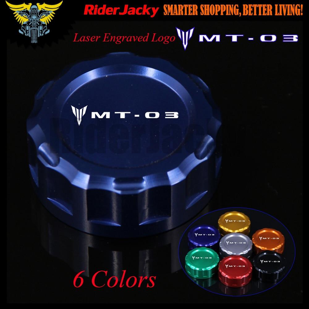 7 цветов ЧПУ Алюминиевый мотоцикл задний тормозной жидкости резервуар Крышка для YAMAHA МТ-03 MT03 МТ 03 2015 2016