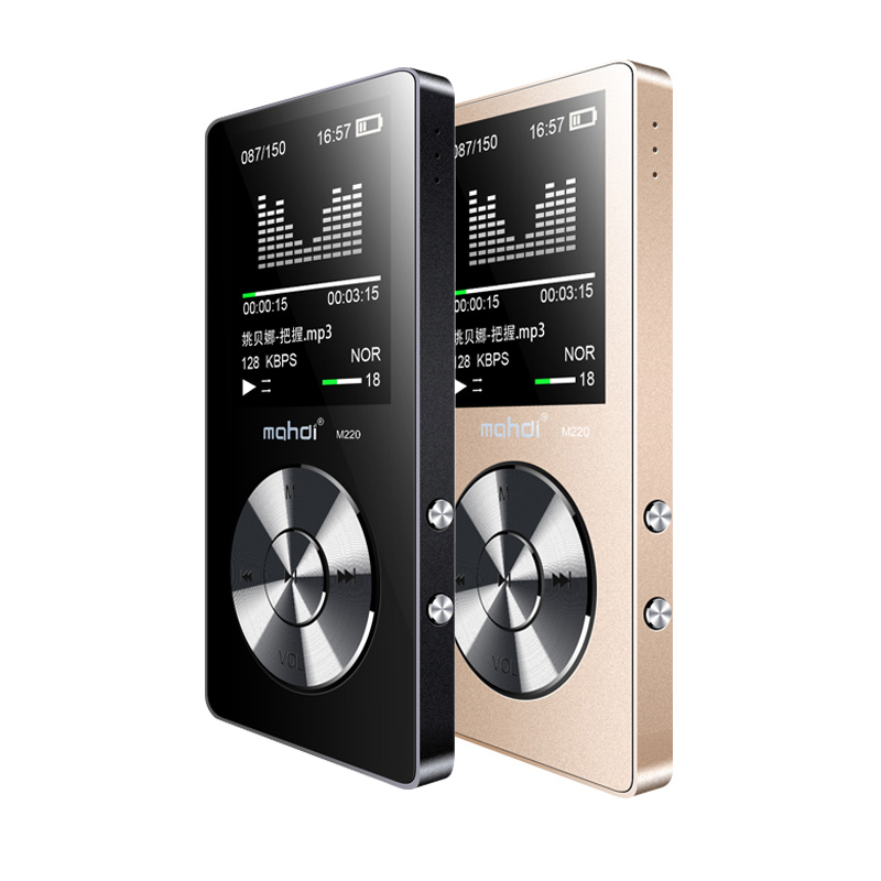 YENI Spor MP3 Çalar Hoparlör Ile 8G Ekran Ile 80 Saat Tam Metal MP3 Müzik Çalar Ses Kaydedici Video Kol Kayışı kulaklık