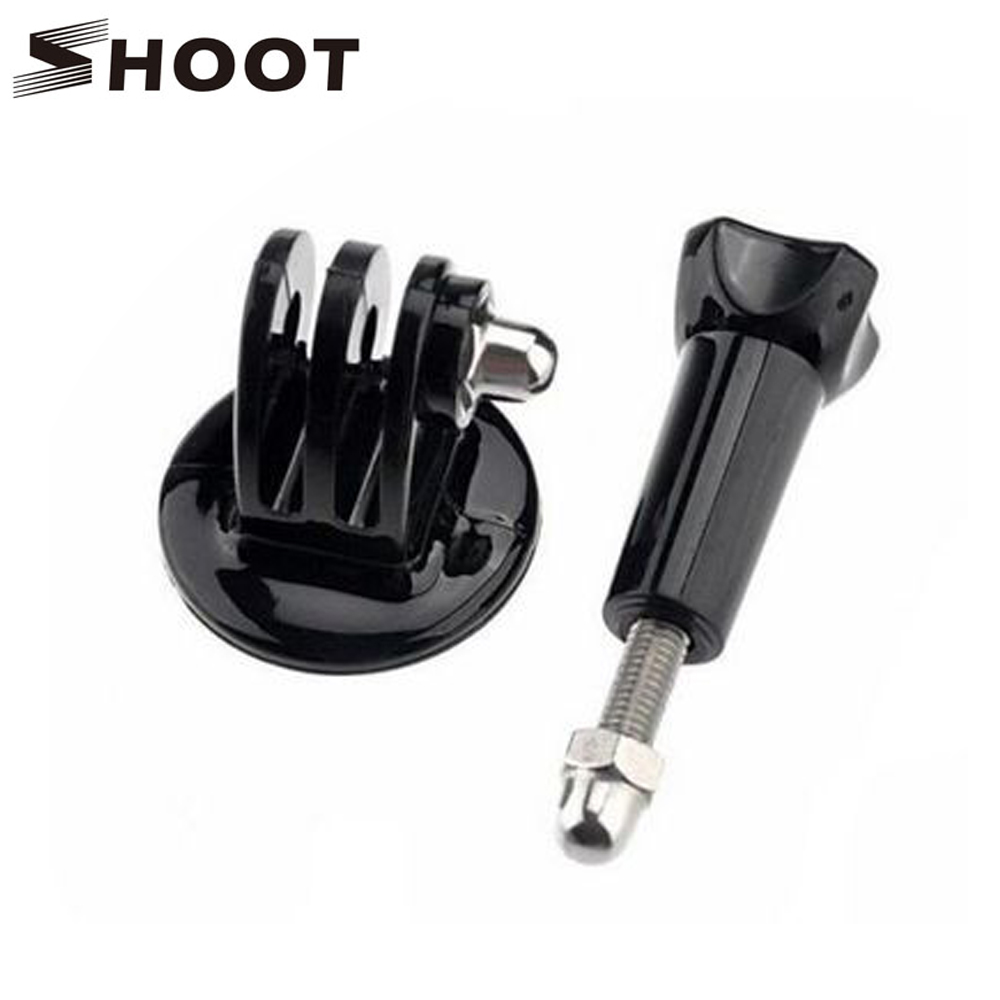SHOOT font b Tripod b font Mount Adapter Stand and Screw for GoPro Hero 5 3