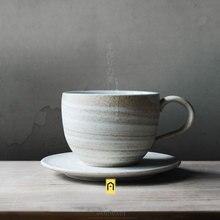Ручной работы творческая индивидуальность Zakka японский стиль Керамические Чашки Блюдца пигмент молоко кофе кружки с ручкой фарфоровая посуда для напитков