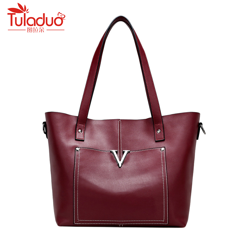 цена на Fashion Women Shoulder Bags High Quality Female Bucket Bag Large Capacity Women Genuine Leather Handbags Designer Ladies Bags