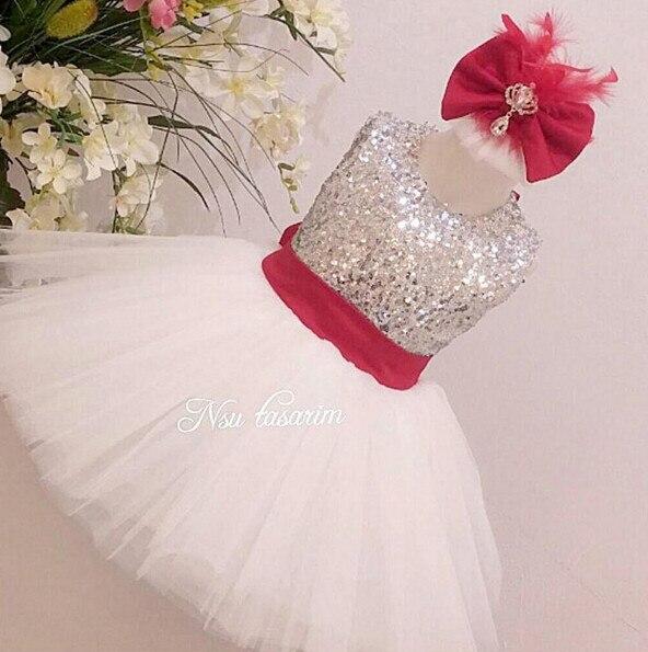 Online shop white tulle sleeveless flower girl dress silver sequin click the other flower girl dresses mightylinksfo
