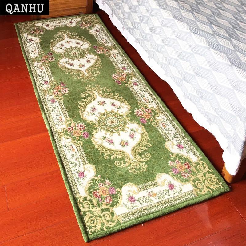 QANHU Nouveau Classique Tapis et Tapis De Chevet/Broderie produits finis Tapis Kilim Textile Chambre Canapé Tapis 70*180 cm