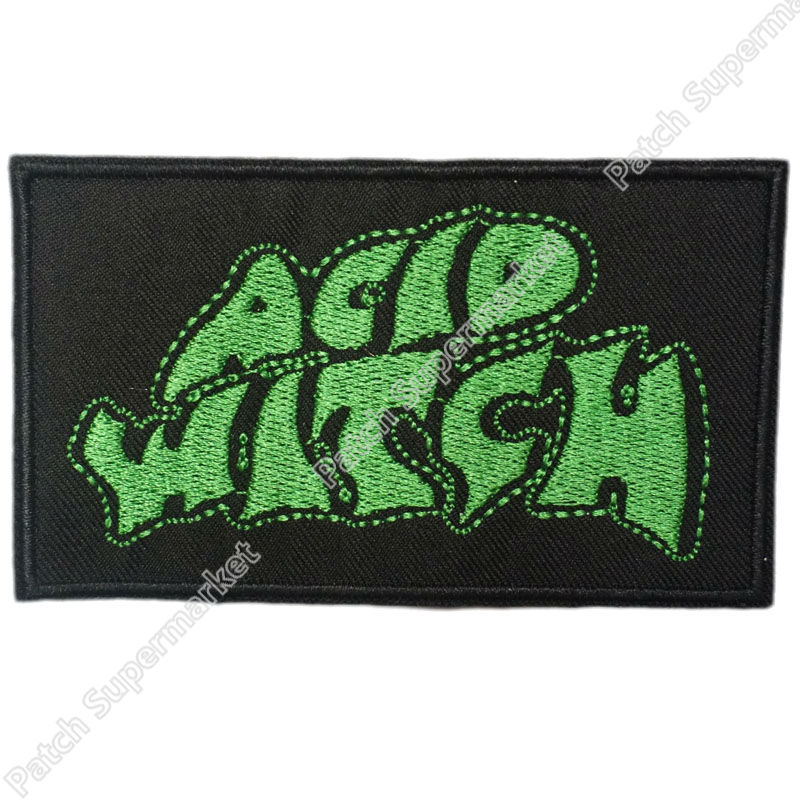 ACID WITCH logo embroidered NEW patch doom death metal