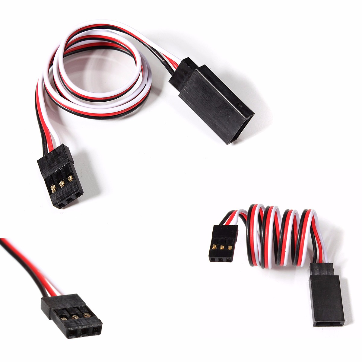New 30cm RC Servo Extension Wire Cable For Futaba JR Remote Control Parts  Used for RC Car Plane Helicopter Servo Connection-in Parts & Accessories  from Toys ...