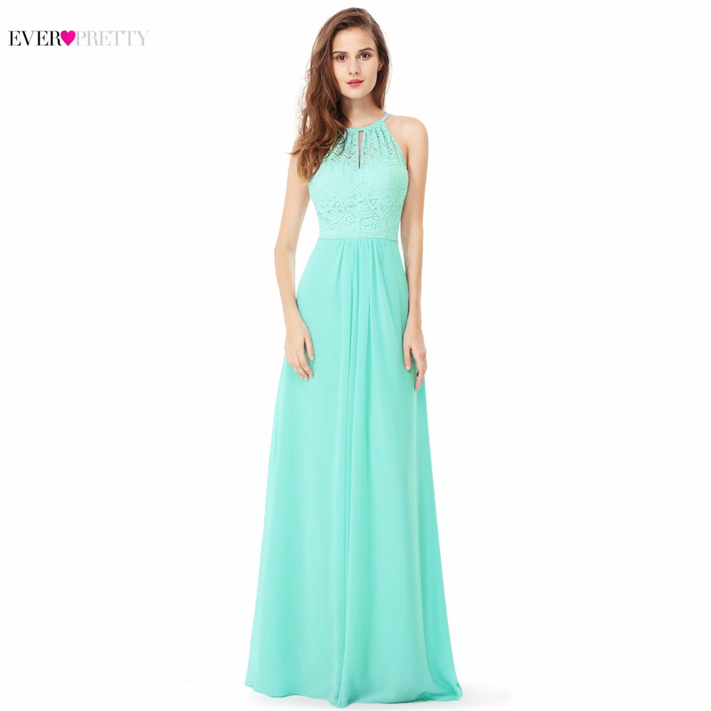 Evening     Dress   Ever Pretty Aqua EP08982AQ A Line New Arrival Women Halter Sleeveless Long   Evening     Dress   2018 Occasion   Dresses